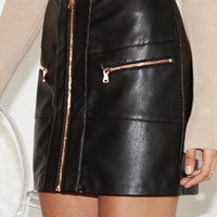 Kendall & Kylie Zip Front Faux Leather Skirt at PacSun.com