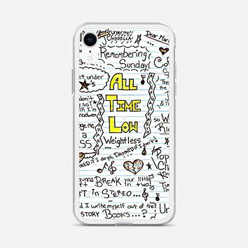 All Time Low Art Quotes iPhone XR Case