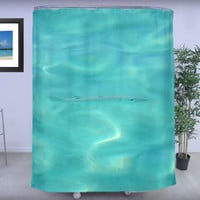 "Shower Curtain - 'Like Fish in Water' - 71"" by 74"" Home, Bathroom, Bath, Dorm, Decor, Girl, Christmas, Ocean, Exotic, Nature"