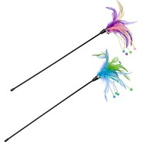 Petco Springy Feather Teaser Wand Cat Toy