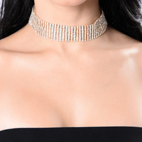Lose Your Mind Over Me Choker - Gold