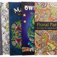 Adult Coloring Books Lot of 5 Woodland Birds Mandalas Owls Floral Quality Paper