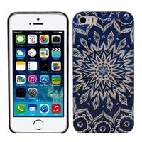 Aokdis New Hot Selling Fashional Individualized Hard Back Case for Iphone 5 5g 5s (Blue Aztec Tribal)