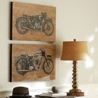 Motorcycle Prints, Set of 2