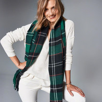 Womens Fringe-Trim Patterned Scarf | Womens New Arrivals | Abercrombie.com