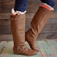 Maplewood Trails Tall Cognac Riding Boots
