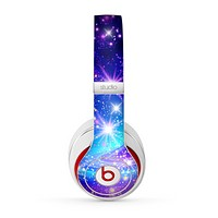 The Glowing Pink & Blue Starry Orbit Skin for the Beats by Dre Studio (2013+ Version) Headphones