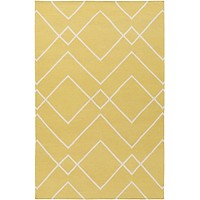 Atrium Geometric Area Rug Yellow