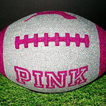 Hot Pink/Purple Victoria's Secret VS PINK Glitter Football Decor