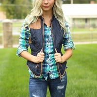 Mountain Retreat Vest - Navy