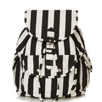 Stripe Denim Backpack