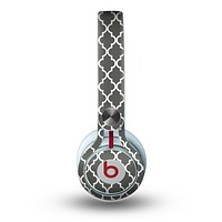 The Gray & White Seamless Morocan Pattern Skin for the Beats by Dre Mixr Headphones