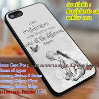 A Little Consideration Eeyore Quote iPhone 6s 6 6s+ 6plus Cases Samsung Galaxy s5 s6 Edge+ NOTE 5 4 3 #cartoon #disney #WinnieThePooh dl3