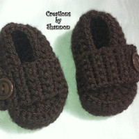 0 to 3 months Baby Brown Loafers Shoes OFG team team madcap