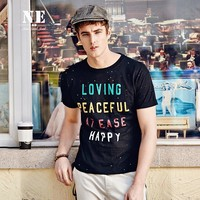 Summer Short Sleeve Innovative Pattern Print Slim T-shirts [7951207875]