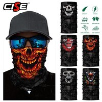 Skull Skulls Halloween Fall 3D Seamless  Balaclava Magic Neck Face Mask Motorcycle Racing Ghost Skeleton Face Shield Anti-UV Scarf Sun Mask Women Men Calavera