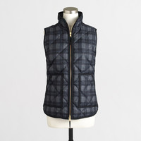 Factory plaid quilted puffer vest