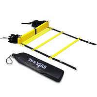 Yes4All Agility Ladder – Speed Agility Training Ladder with Carry Bag 12 Rung C. Yellow- 12 Rungs