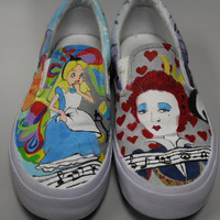 Custom Canvas Hand Painted Shoes by lollishoes on Etsy
