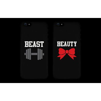 Beauty and Beast Cute Matching Couple Phone Cases Great Gift for Couples