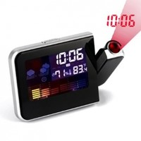 HDE (TM) Multi Function LCD Projection Clock w/ Weather