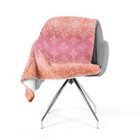 "Suzie Tremel ""Medallion Red Ombre"" Pink Fleece Throw Blanket"
