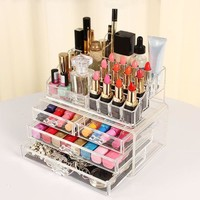 Ship From RU Makeup Cosmetic Organizer Lipstick Eyeshadow Brushes in One Place Makeup Sets Drawers WH998 Ship From RU