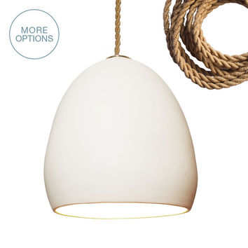Porcelain Rustic Ship Rope Clay Pendant Light