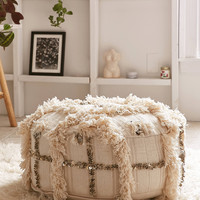 Moroccan Coin Pillow Pouf | Urban Outfitters