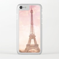 Paris in Pink Clear iPhone Case by Legends of Darkness Photography