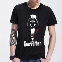 Star Wars Men Darth Vader Cartoon Man T-shirt Your Father