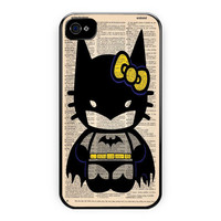 Hello Kitty Batman Custom Poster iPhone 4/4S Case