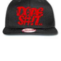dope shit red Snapback,Hat - New Era Flat Bill Snapback Cap