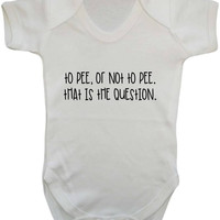 To Pee Or Not To Pee That Is The Question Funny Shakespeare Parody Quote Baby Onesuit Vest