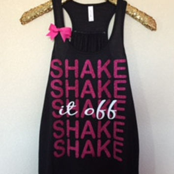 Shake it Off Tank - 1989 Concert Tank - Ruffles with Love - Bow Tank