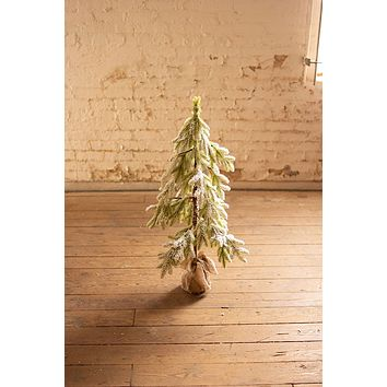Artificial Frosted Christmas Tree - Small