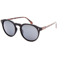 Blue Crown Circular Classic Sunglasses Black One Size For Women 25377110001