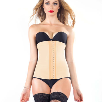 Rubber Steel Boned Slim Palace Corset Underwear [4919914244]