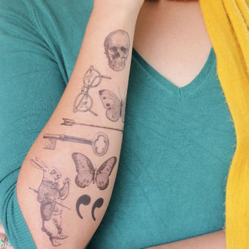 Vintage Whimsy- Tattoo Pack- 8 Temporary Tattoos