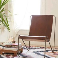 Maddox Leather Sling Chair
