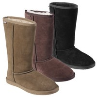 Pawz by Bearpaw Womens Mid-Calf Comfort Shearling Boots