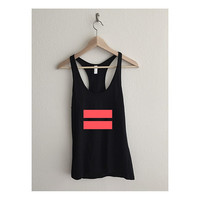 infrared Equality Symbol Fine Jersey Racerback Tank Top