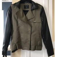 Edgy Guess Jacket With Leather.