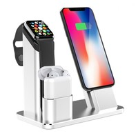 Apple Watch Stand 3 in 1 Aluminum Charging stand Dock Station for Apple Watch 3