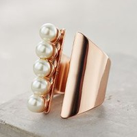 Queued Pearls Ring by Bauble Bar x Anthropologie in Pearl Size: