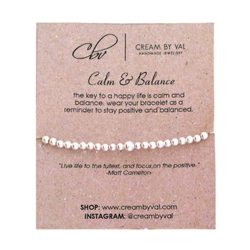 Calm and Balance Stretchable Bracelet