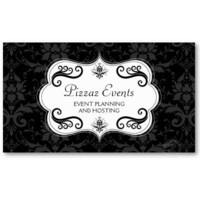 Elegant Damask and Swirls Business Cards from Zazzle.com