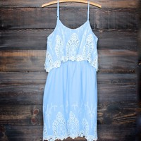 on the prairie victorian dress - blue