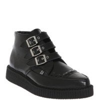 T.U.K. Black Leather Pointed Creepers