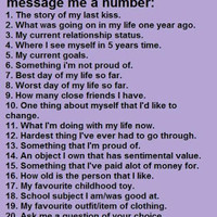 Dream...Wish...Desire: Ask Me A Number
